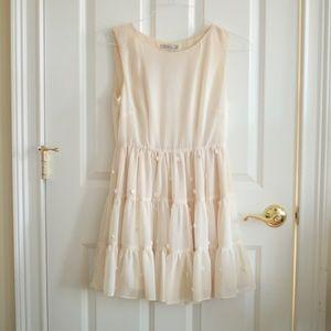 Darling Sleeveless Romantic Dress with Flowers